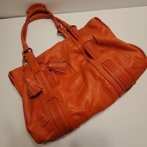 Marc Jacobs leather bright orange bag large bag